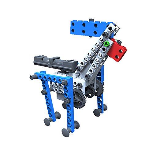 AR Motorial Building Robot, SainSmart Jr. Blocks Team BT-04 New Creative Educational Robotics Blocks, DIY Assembling Robot Set, with Comics AR View, Foresting STEM Skills (Flash Rubber Wig)