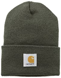 Carhartt Men\'s Acrylic Watch Hat,Dark Green,One Size