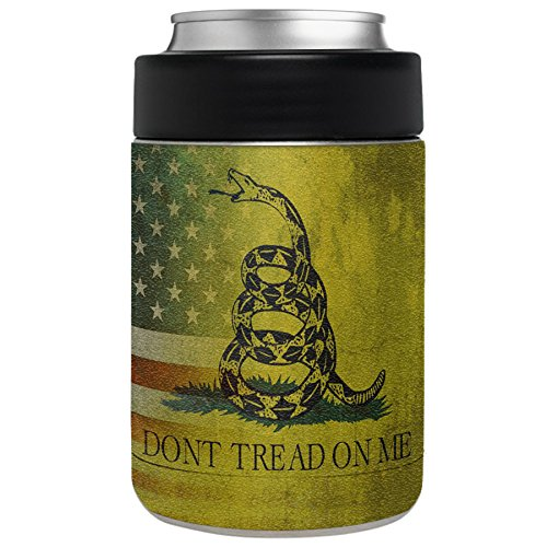 Aretty - Faded American Don't Tread on Me Gadsden Flag Vinyl Skin Decal for the Yeti Rambler Colster (Colster Not Included) (Camo Wrap For Yeti Cooler compare prices)