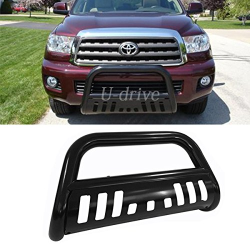 Mifeier Black Steel Front Bumper Grill Guard Bull bar For 07-16 Toyota Tundra 08-16 Sequoia Bull Bar (Toyota Tundra Black Bumpers compare prices)