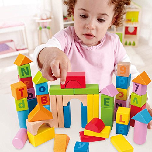 hape solid beech stacking blocks with carrying sack. Black Bedroom Furniture Sets. Home Design Ideas