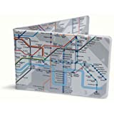 Crafted Lines Travel Oyster Card Wallet - London Tube Map Grey