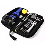Ohuhu Professional 13 Piece Watch Repair Tool Kit Case Bonus a Hammer