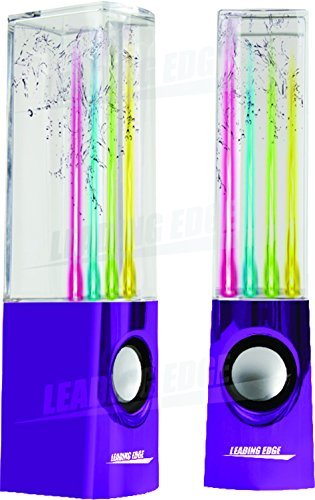 Leading Edge Water Dancing Speakers, Purple (Leading Edge Speakers compare prices)