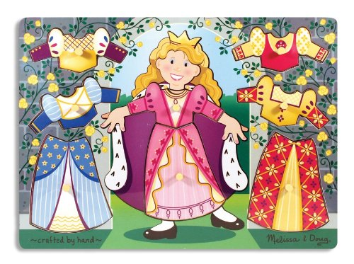 Picture of Fun Princess Dress Up Mix 'n Match Peg (B0036KXUYO) (Pegged Puzzles)
