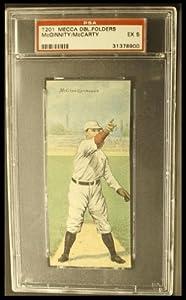 Buy 1911 T201 Mecca Lew McCarty Joe McGinnity (Baseball Card) # 46 PSA 5 - EX by T201 Mecca Double Folders Baseball
