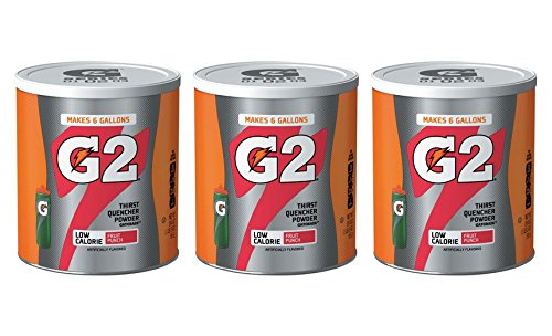 Gatorade Thirst Quencher Powder, G2 Low Calorie, Fruit Punch, 3 - 19.4 Ounce Canisters (Gatorade G2 Powder Fruit Punch compare prices)