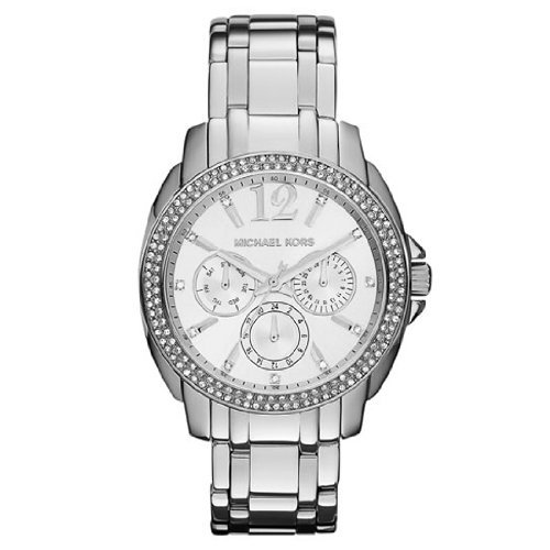 Michael Kors Mk5690 Women'S Cameron Glitz Silver Tone Stainless Steel Multifunction Watch