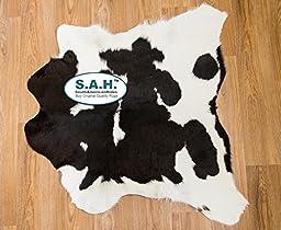 MINI COWHIDE RUG Skin Black & White 3X3