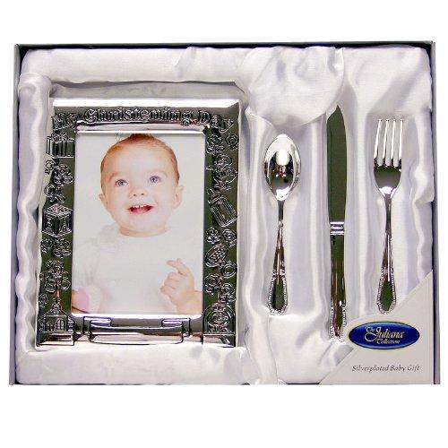 My Christening Day Chritening Gift Set, Frame Knife Fork & Spoon