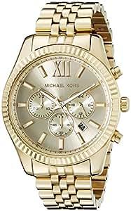 Michael Kors Men's MK8281 Lexington Analog Display Analog Quartz Gold Watch