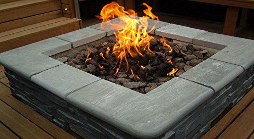 Brightstar, Gas Fire Pit Burner, Square, 18kw, Lpg Gas