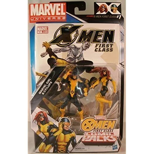 Marvel Universe, Exclusive X-Men First Class Action Figure Comic Pack, Marvel Girl & Cyclops, 3.75 Inches by Hasbro [병행수입품]