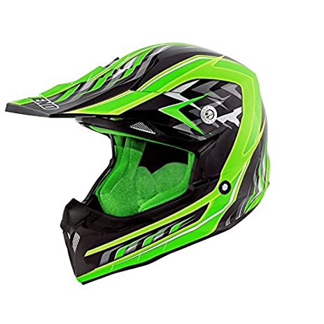 CASQUE CROSS NOEND DEFCON 5 BLACK/GREEN --TX696 XXL