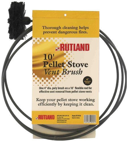 Rutland 3-Inch Pellet Stove/Dryer Vent Brush with 10-Feet Handle (Stove Pipe 10 compare prices)