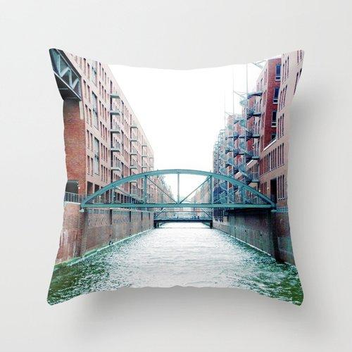 "Popular Throw Pillow/Travel Pillow-Cotton Linen Square Decorative Throw Pillow Case Cushion Cover Exclusive Design Artworks-0002 Size:18""X18 ""Inch/(45Cm X 45Cm)"
