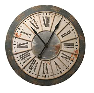 Wilco Imports Round Wall Clock Large Home Kitchen
