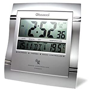 weather station radio controlled alarm clock electronics. Black Bedroom Furniture Sets. Home Design Ideas