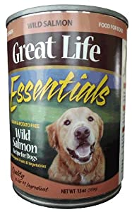 Great Life Wild Salmon Canned Dog Food, 13-Ounce, Case of 12