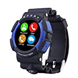 Padgene Waterproof Scratchproof Dustproof Bluetooth Sport SmartWatch With Heart rate monitor, Trace Calorie Functions for Apple iPhone, Samsung, Sony, HTC, LG and other Android and IOS Device, Blue