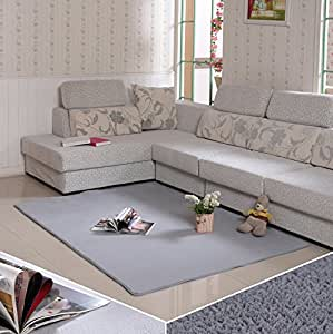 Cooperation super soft modern shag area rugs for Living room rugs amazon