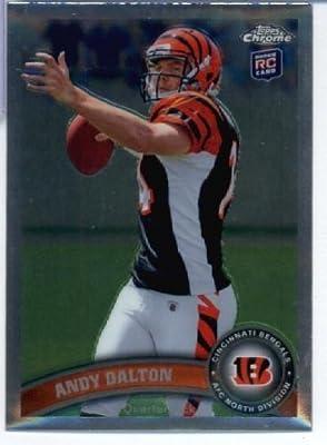 2011 Topps Chrome Football Card #TC51 Andy Dalton RC - Cincinnati Bengals (RC - Rookie Card) NFL Trading Card