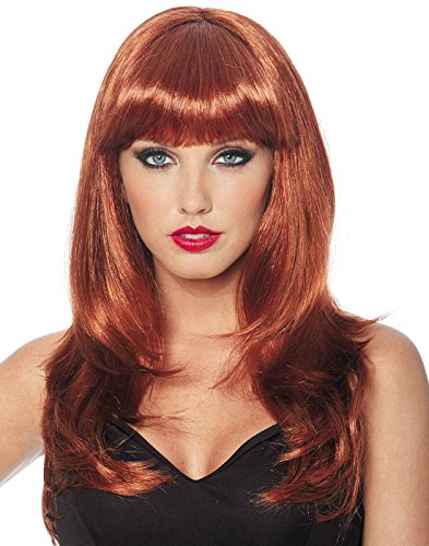 Costume Culture Women's Donna Wig, Natural Red, One Size (Red Wig With Bangs)