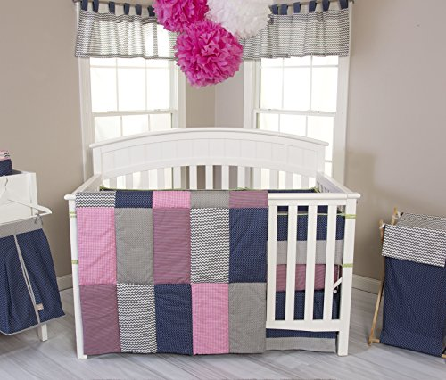 Trend Lab 3 Piece Perfectly Pretty Crib Bedding Set