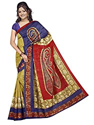 SareeShop Women's Saree with Blouse Piece Saree (Bhagalpuri1082_MultiColored _Free Size)