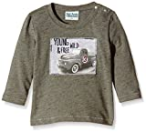 Sanetta 113505-Camiseta manga larga Bebé-Niños,    Vert (olive Melange 4885) 3 meses (Talla fabricante: 62)