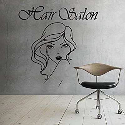 Girl Face Hair Salon Quote Beauty Salon Shop Wall Sticker Barber Shop Girl Room Decoration Hair Art Poster