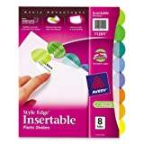 Avery Style Edge Insertable Plastic Dividers, 8-Tab Set (11201)