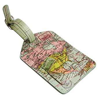 Wild and Wolf Map Print Luggage Tag
