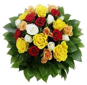 Bunter Rosenstrauß mit 24 Rosen, 1Strauß