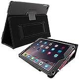 英国Snugg社製 Apple iPad Air 2 用 レザーケース - スタンド機能・生涯補償付き (ブラック)