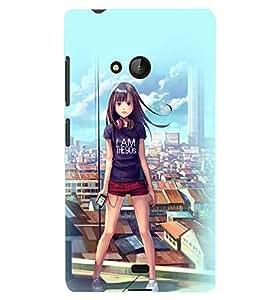 Printvisa Latest Generation Girl Back Case Cover for Lumia Lumia 540::Microsoft Lumia 540
