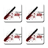 Lincoln Gore Custom 4Pcs Square Cork Coasters Dexter TV Show Dexter Coffee Drink Tea Cup Mug Mat Pad Placemats