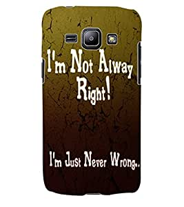 ColourCraft Quotes Back Case Cover for SAMSUNG GALAXY J1