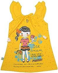 Absorba Baby Girls' Dress ( Yellow_18-24 Months ,60009)