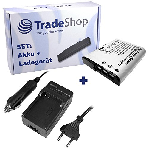 ANGEBOT IM SET: Hochleistungs Kamera Li-Ion Akku + Akku Ladegerät mit Kfz Adapter ersetzt NP-BG1 NP-FG1 NP-BG-1 NP-FG-1 für Sony Cybershot DSC-H3 DSC-H7 DSC-H9 DSC-H10 DSC-H20 DSC-H50 DSC-N1 DSC-N2