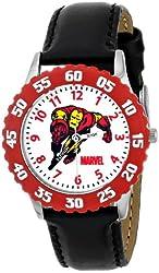Marvel Kids' W000119 Iron Man Stainless Steel Time Teacher Watch