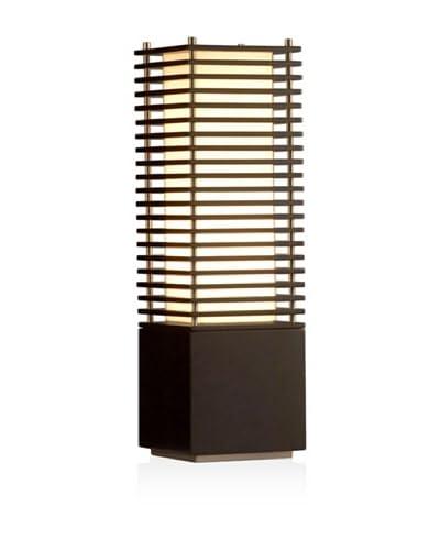 Nova Lighting Kimura Accent Table Lamp, Dark Brown/Brushed Nickel