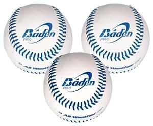 Baden PR-O 3 balles de baseball 22 cm