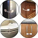 PREMIUM-Adjustable-Child-Safety-Locks-Latches-to-Baby-Proof-Cabinets-Drawers-Fridge-Oven-Dishwasher-Toilet-Seat-with-3M-Adhesive-No-Tools-or-Drilling-6x-Pack-White