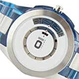 THE ONE Binary Men's Turning Disc Analogue Watch AN08G05 with Silver Dial