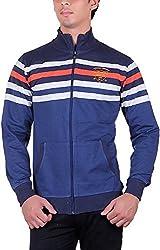 UCC Men's Fleece Regular Fit Sweatshirts (UCC6030NAVY-L)