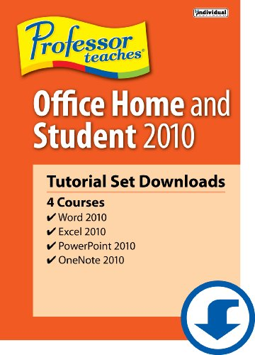 Professor Teaches Office Home & Student 2010 Tutorial Set [Download]