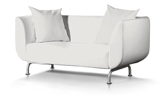 Dekoria Fire Retarding IKEA STROMSTAD 2er Sofa Cover–Off Weiß