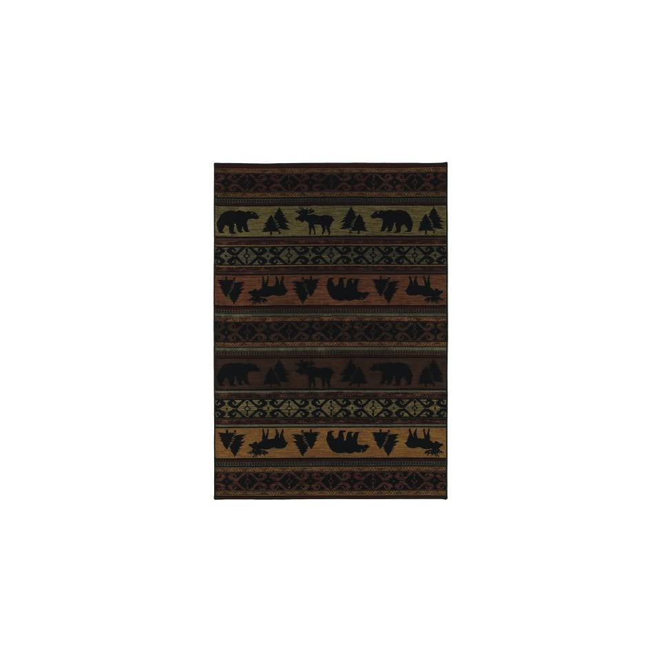 Timber Creek Collection Canyon Trail Multi Olefin Rug 3.90