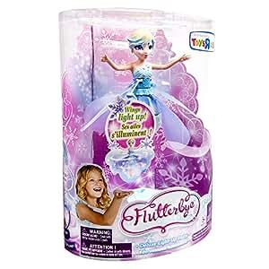 デラックス ライトアップ フラッターバイ フライングフェアリーズ★ Deluxe Light Up Flutterbye Fairy - Snowflake 【並行輸入品】